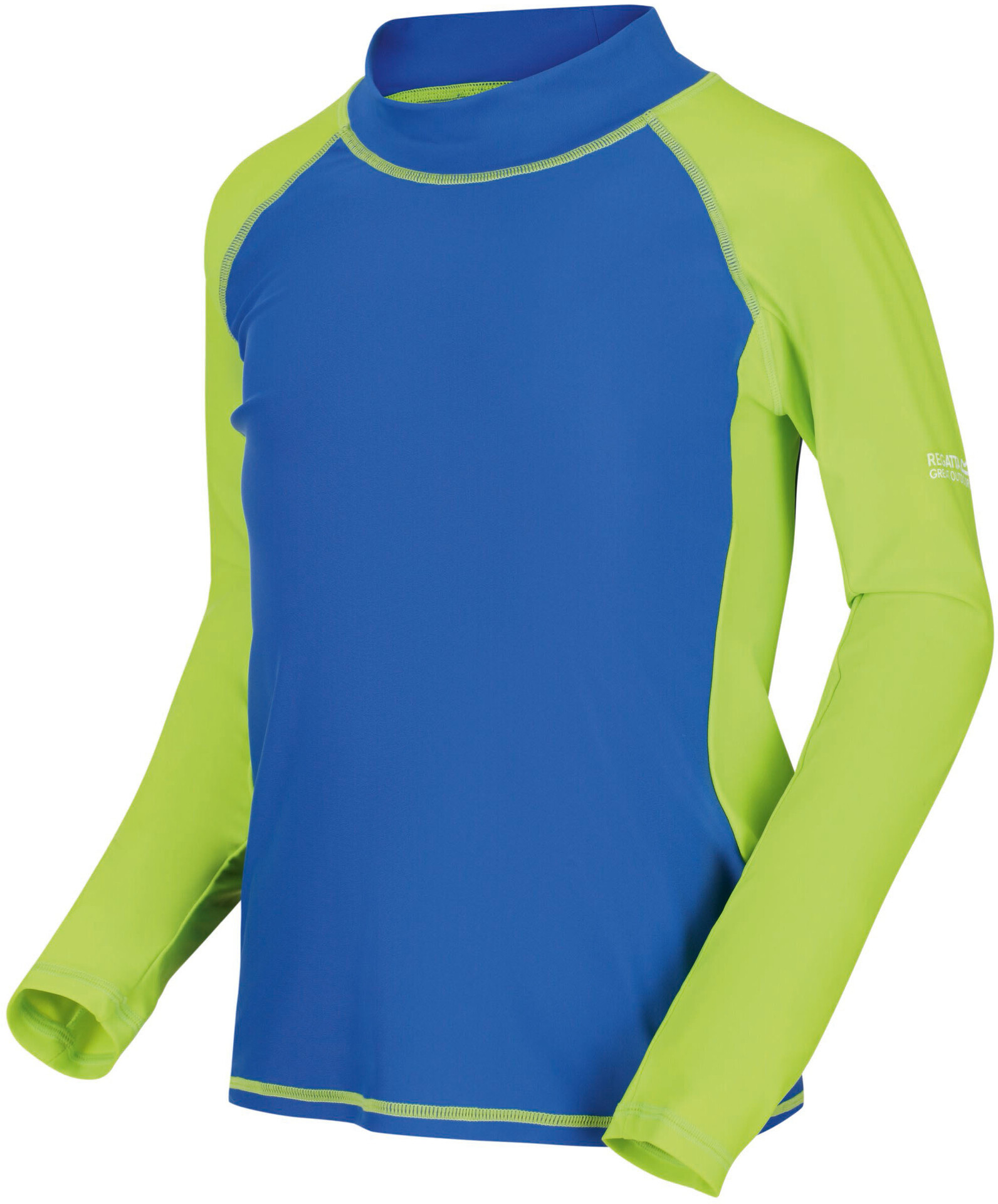 Regatta Hoku Maglia da nuoto Bambino, nautical blue/elcectric lime su Addnature 415xQ